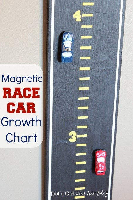 Magnetic Race Car Growth Chart by Just a Girl and Her Blog