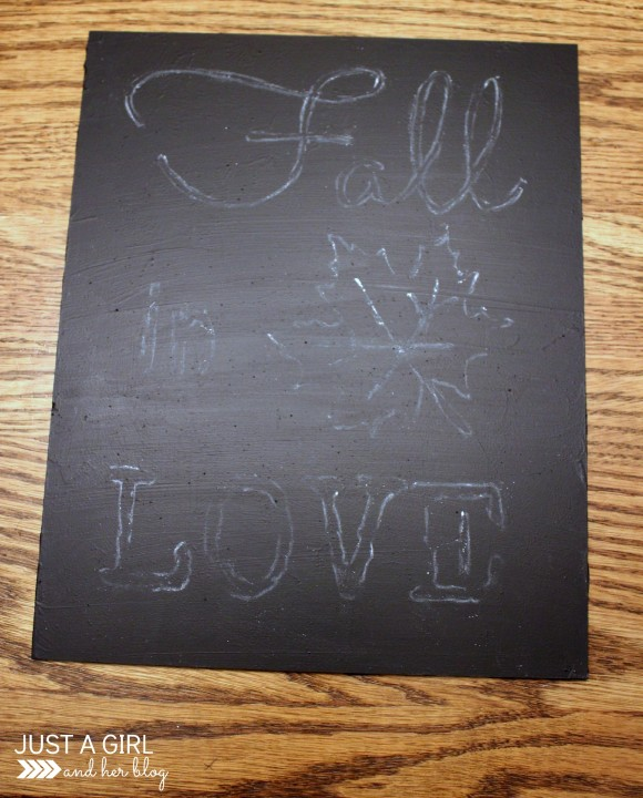 DIY Fall Chalkboard Art by Just a Girl and Her Blog