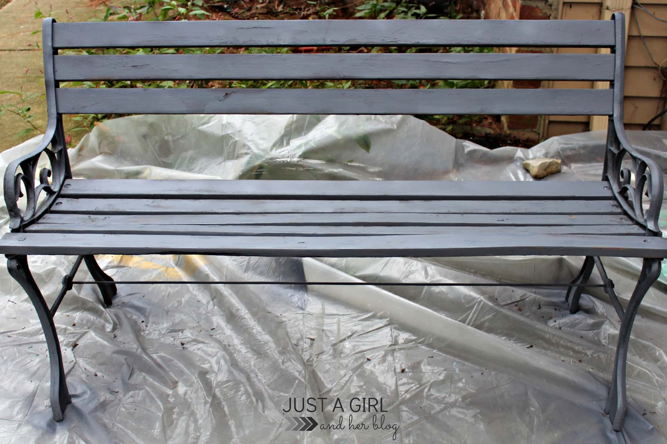 Shabby To Chic Outdoor Bench Just A Girl And Her Blog