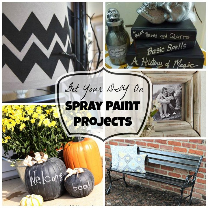 Spray Paint Collage, Get Your DIY On