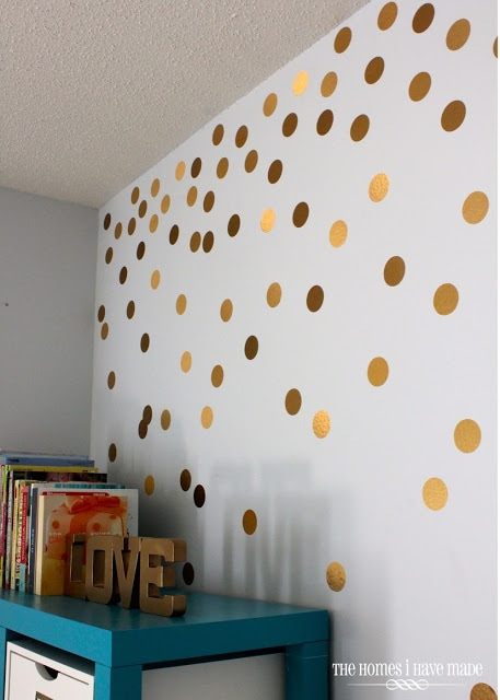 Decorating the Walls with Diy Polka Dots