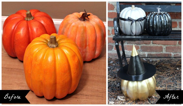Three Pretty Pumpkins by Just a Girl and Her Blog