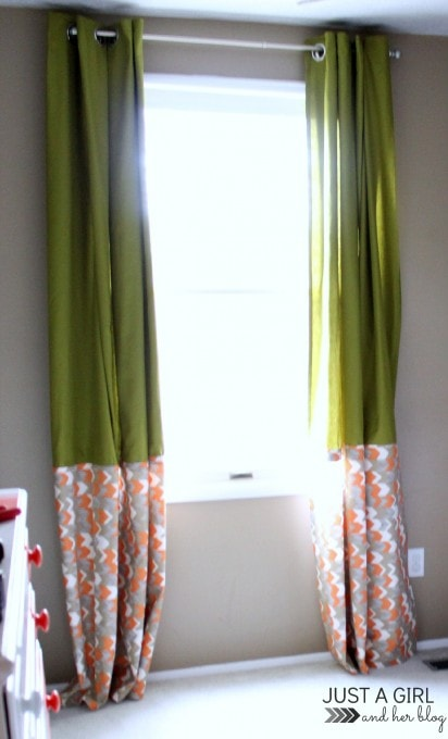 IKEA Hack: No-Sew Curtains