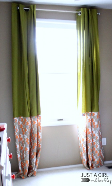 IKEA Hack: No-Sew Curtains by Just a Girl and Her Blog