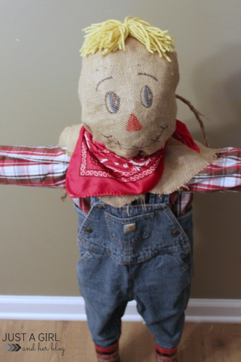 A Cute Little Scarecrow by Just a Girl and Her Blog
