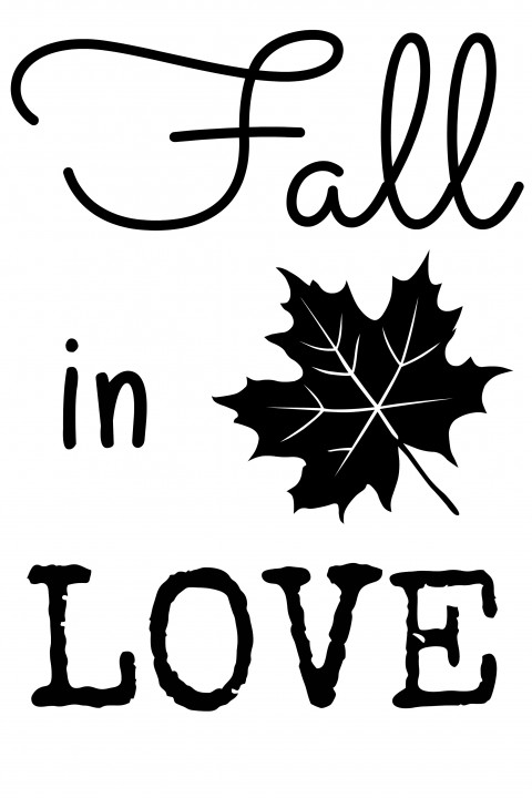 Fall in Love Print by Just a Girl and Her Blog