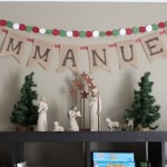 """Immanuel"" Burlap Banner"