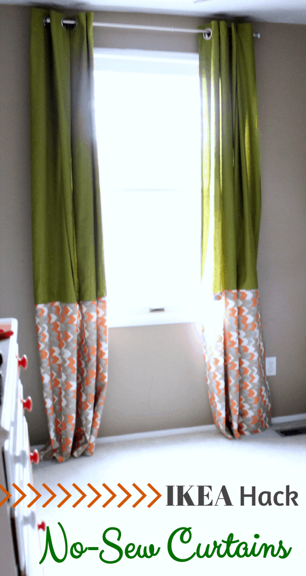 Ikea Hack No Sew Curtains Just A Girl And Her Blog