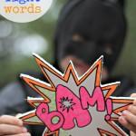 Bam! Zlonk! Eee-yow! {Neon Sharpie Fight Words}