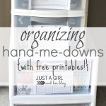 Organizing Hand-Me-Downs {with FREE Printables!}
