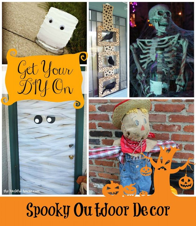 Spooky Outdoor Decor Collage