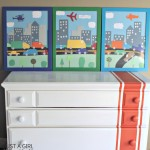 DIY Transportation Art {The Cs' Big Boy Room}