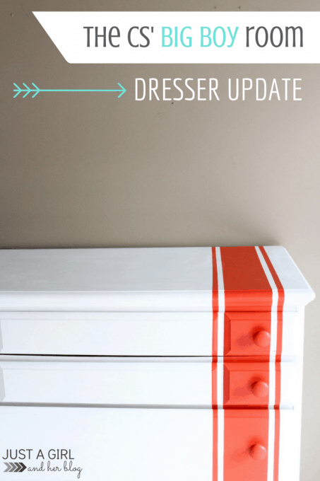 Dresser Update {The Cs' Big Boy Room}