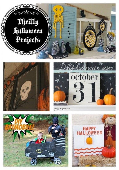 Thrifty Halloween Projects Collage