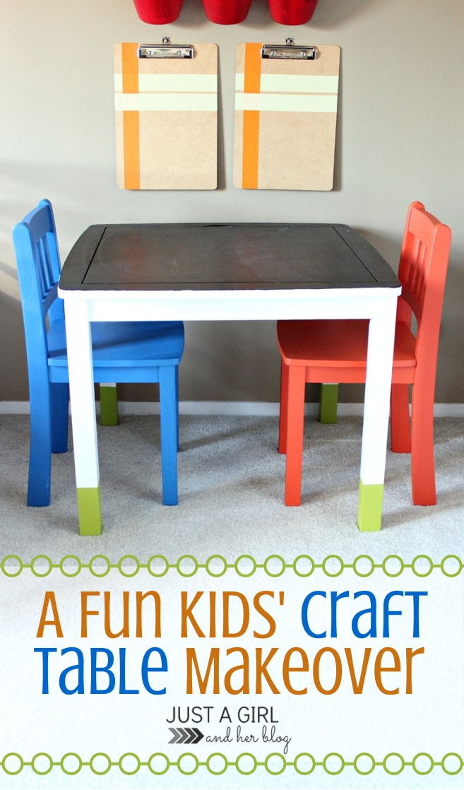 kids craft table ideas a craft table makeover just a and 4813