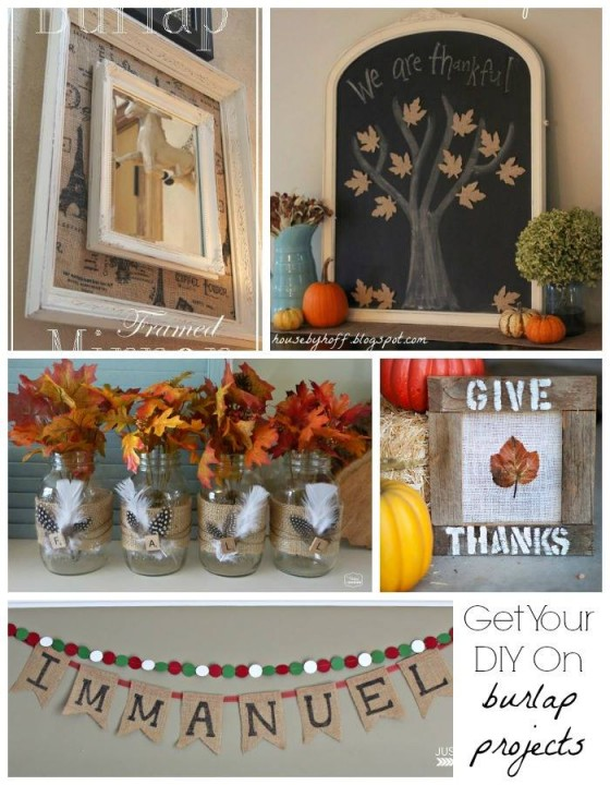 Burlap Week Collage