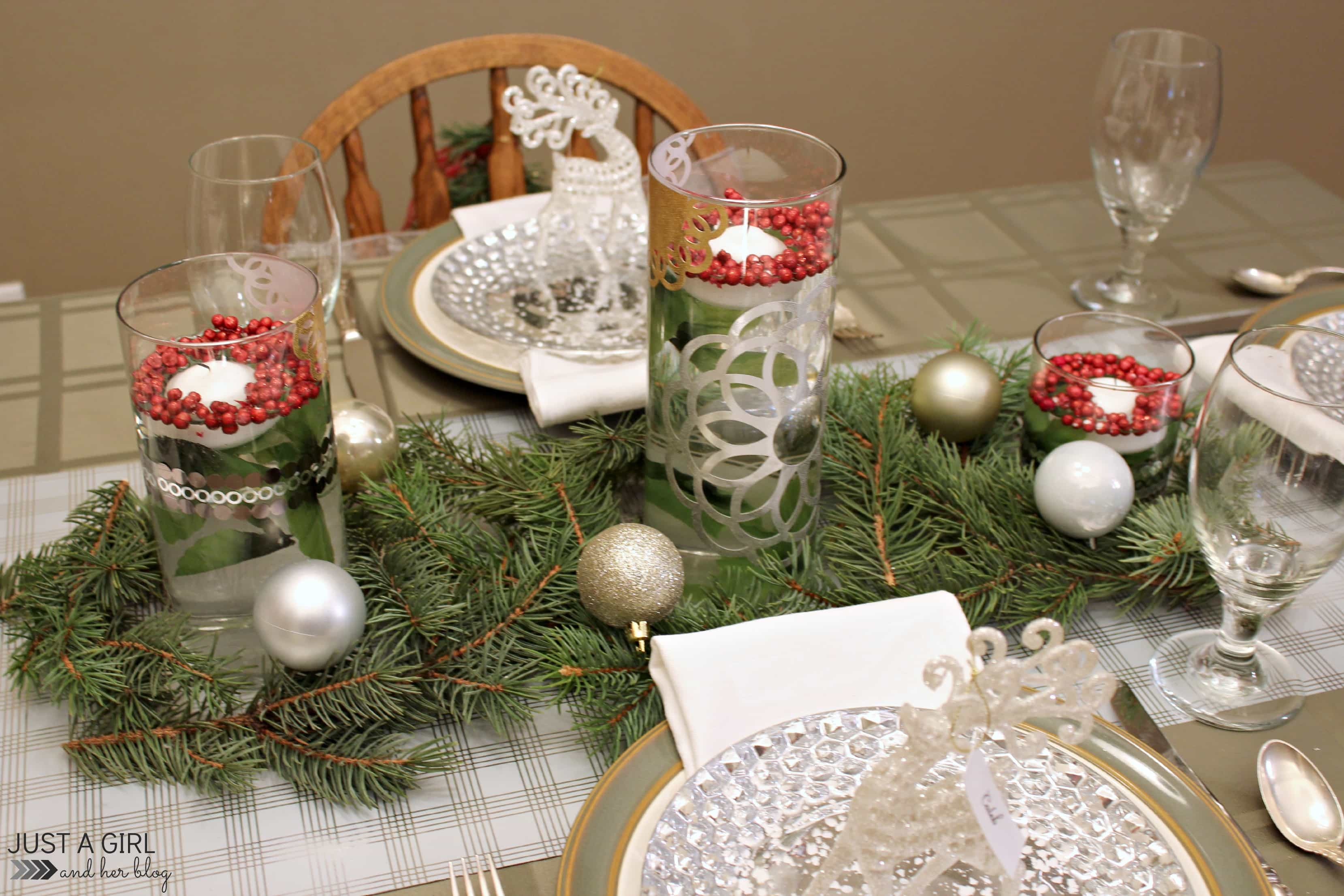 rustic elegance a christmas tablescape by just a girl and her blog - Rustic Elegant Christmas Decor