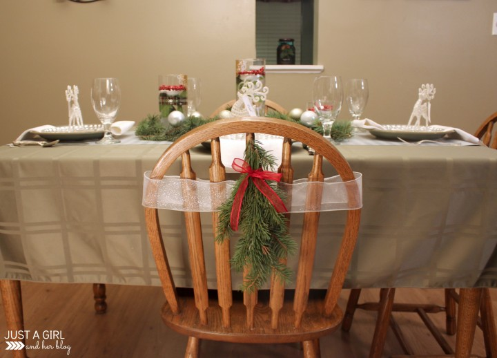 Rustic Elegance: A Christmas Tablescape by Just a Girl and Her Blog
