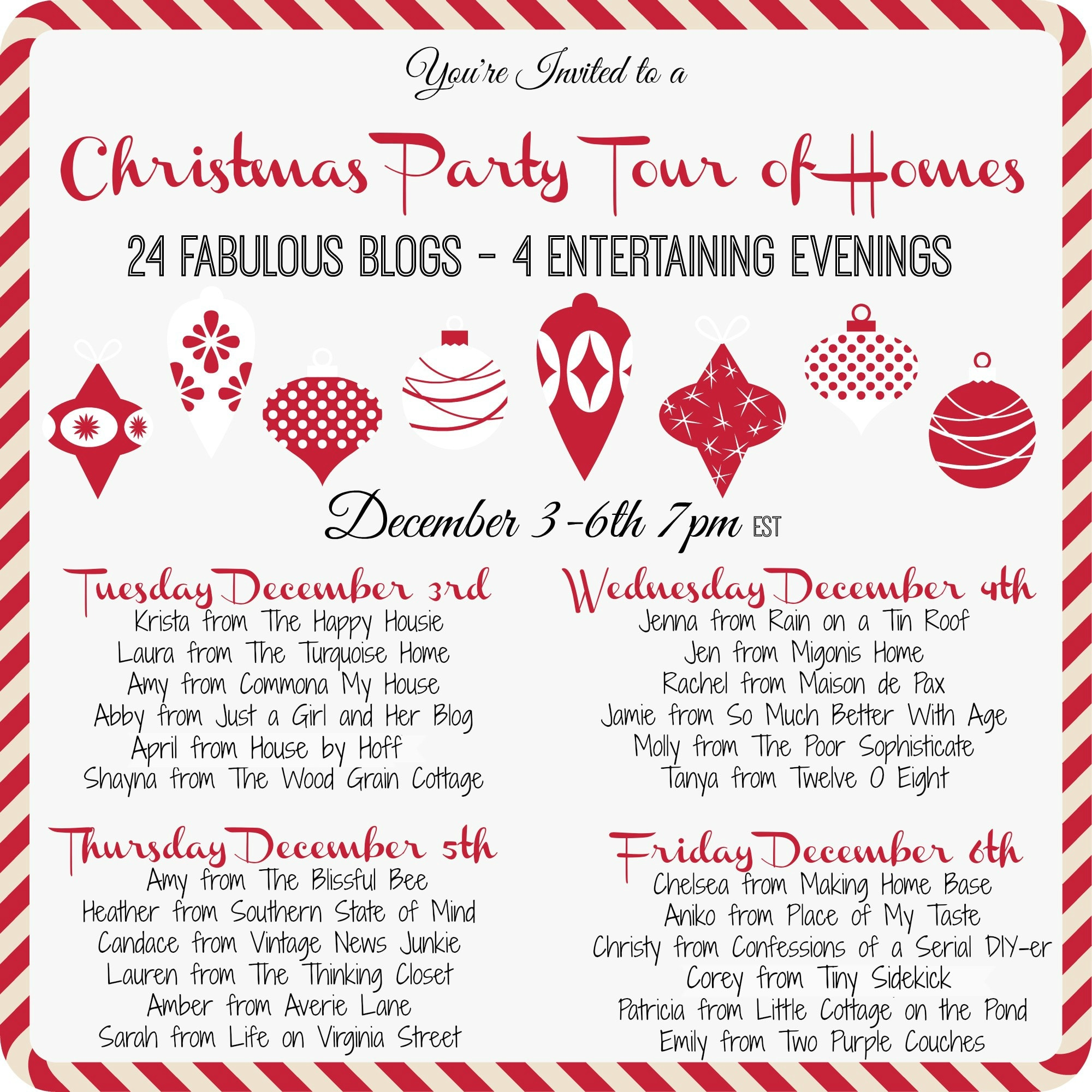 Christmas Party Tour of Homes - Just a Girl and Her Blog
