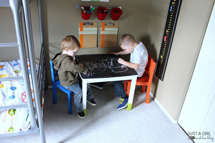 A Fun Kids' Craft Table Makeover by Just a Girl and Her Blog