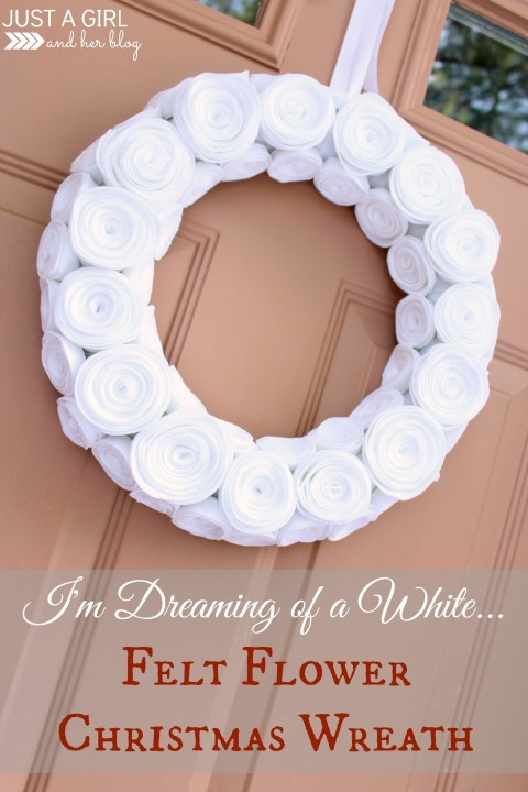 Felt Flower Christmas Wreath by Just a Girl and Her Blog