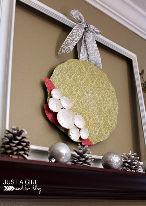 Faux Christmas Wreath by Just a Girl and Her Blog