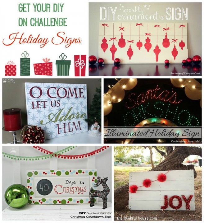 Holiday Sign Collage