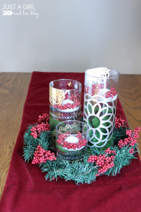 Diy christmas centerpiece by just a girl and her blog