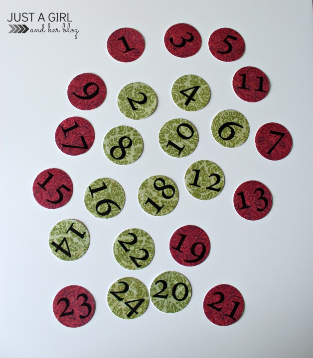 Our DIY Advent Calendar with FREE Printables by Just a Girl and Her Blog