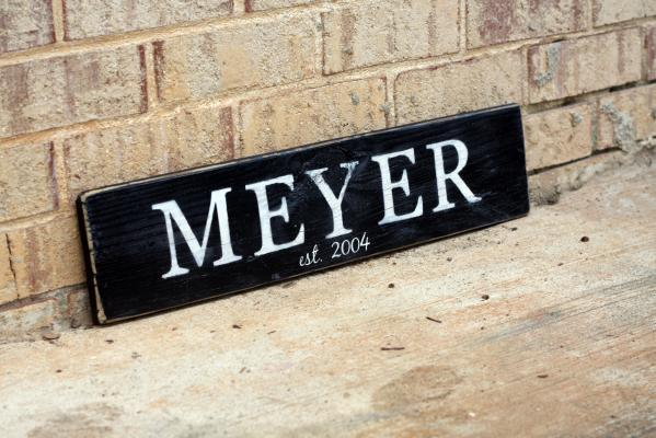 Personalized 2 foot Sign