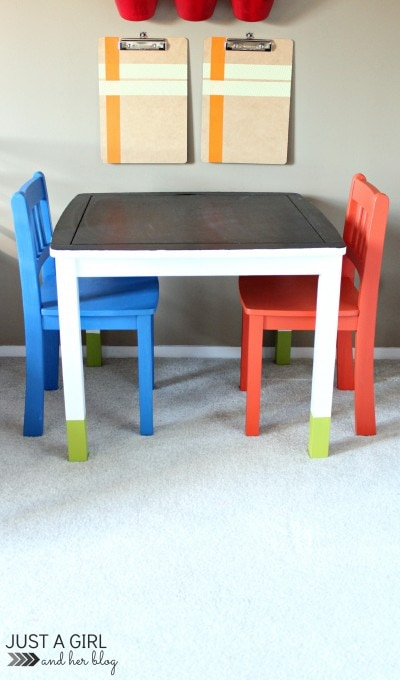 A Fun Kids' Craft Table Makeover