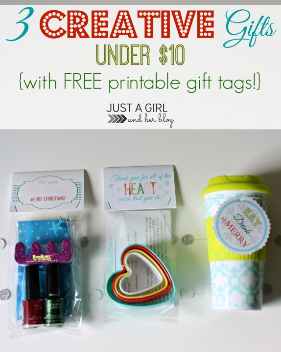 3 Creative Gifts Under $10 by Just a Girl and Her Blog