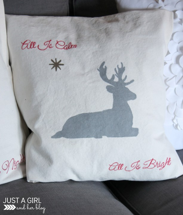 No Sew Pillow Covers Decorated with Sharpies by Just a Girl and Her Blog