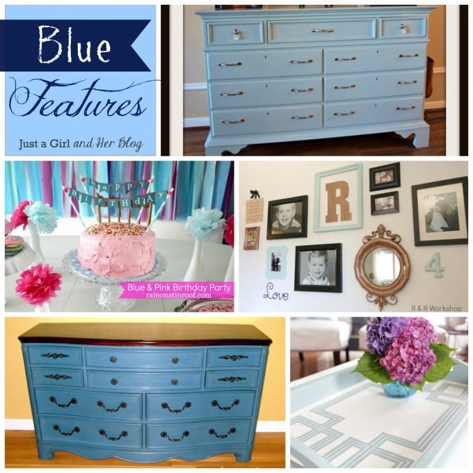 Blue Features Collage