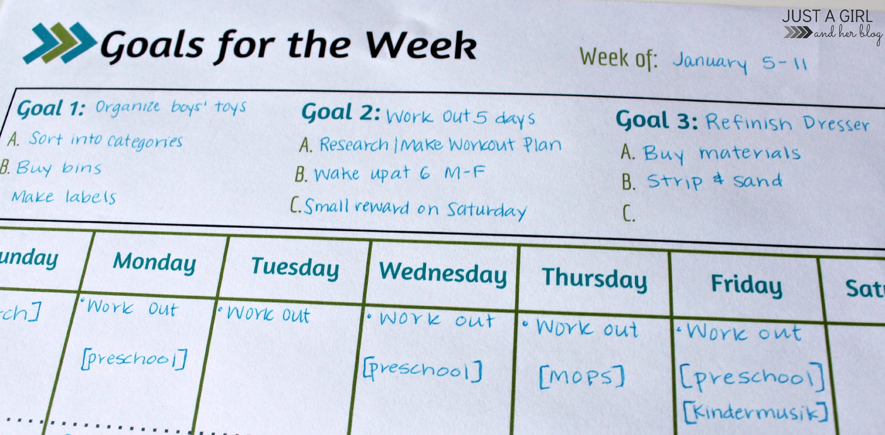 weekly goal sheet - Vatoz.atozdevelopment.co