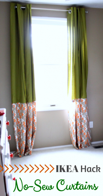 IKEA Hack No-Sew Curtains by Just a Girl and Her Blog