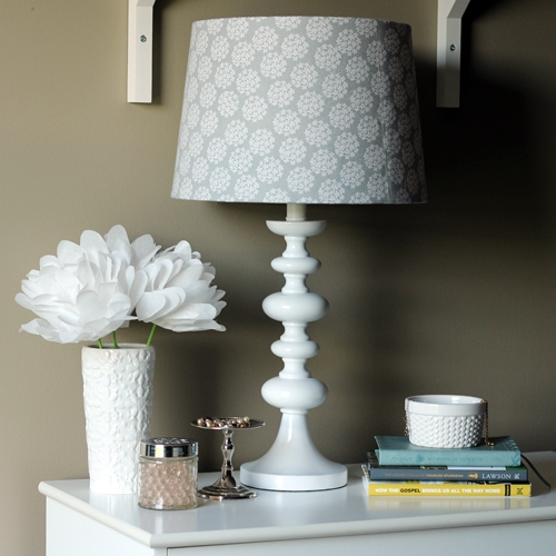 Lamp Shade Makeover by Just a Girl and Her Blog