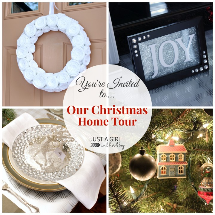 Our Christmas Party Home Tour by Just a Girl and Her Blog
