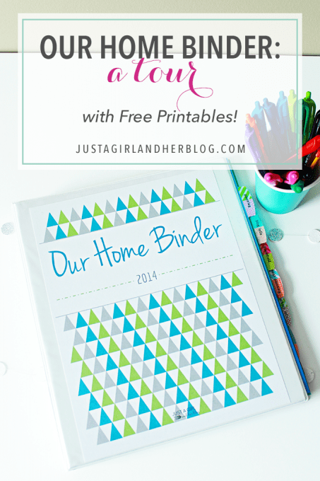 Our Home Binder A Tour with FREE printables Just a Girl and