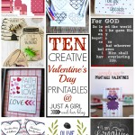 10 Creative Valentine's Day Printables {Hit Me with Your Best Shot Knockouts!}