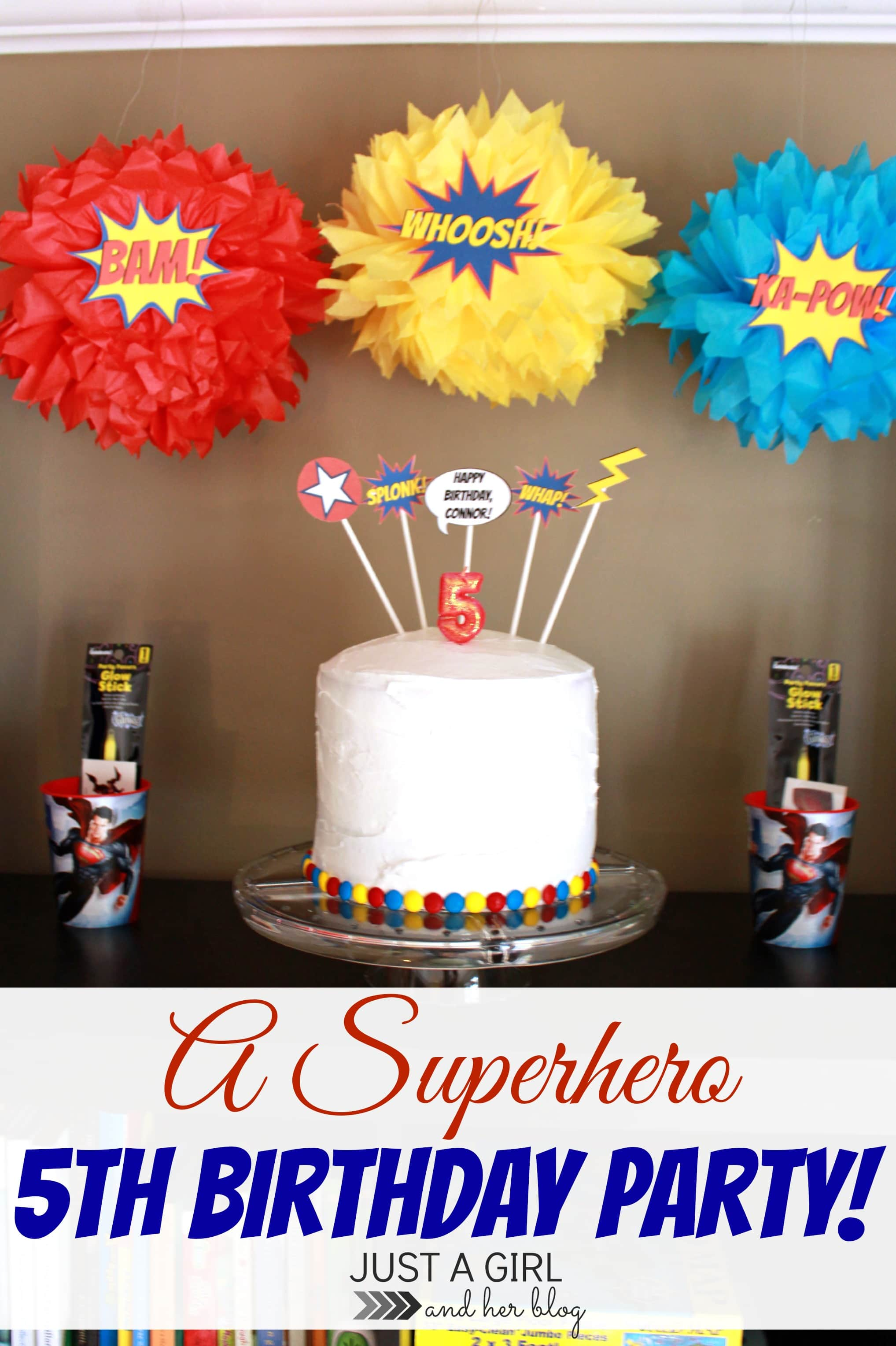 A Superhero 5th Birthday Party