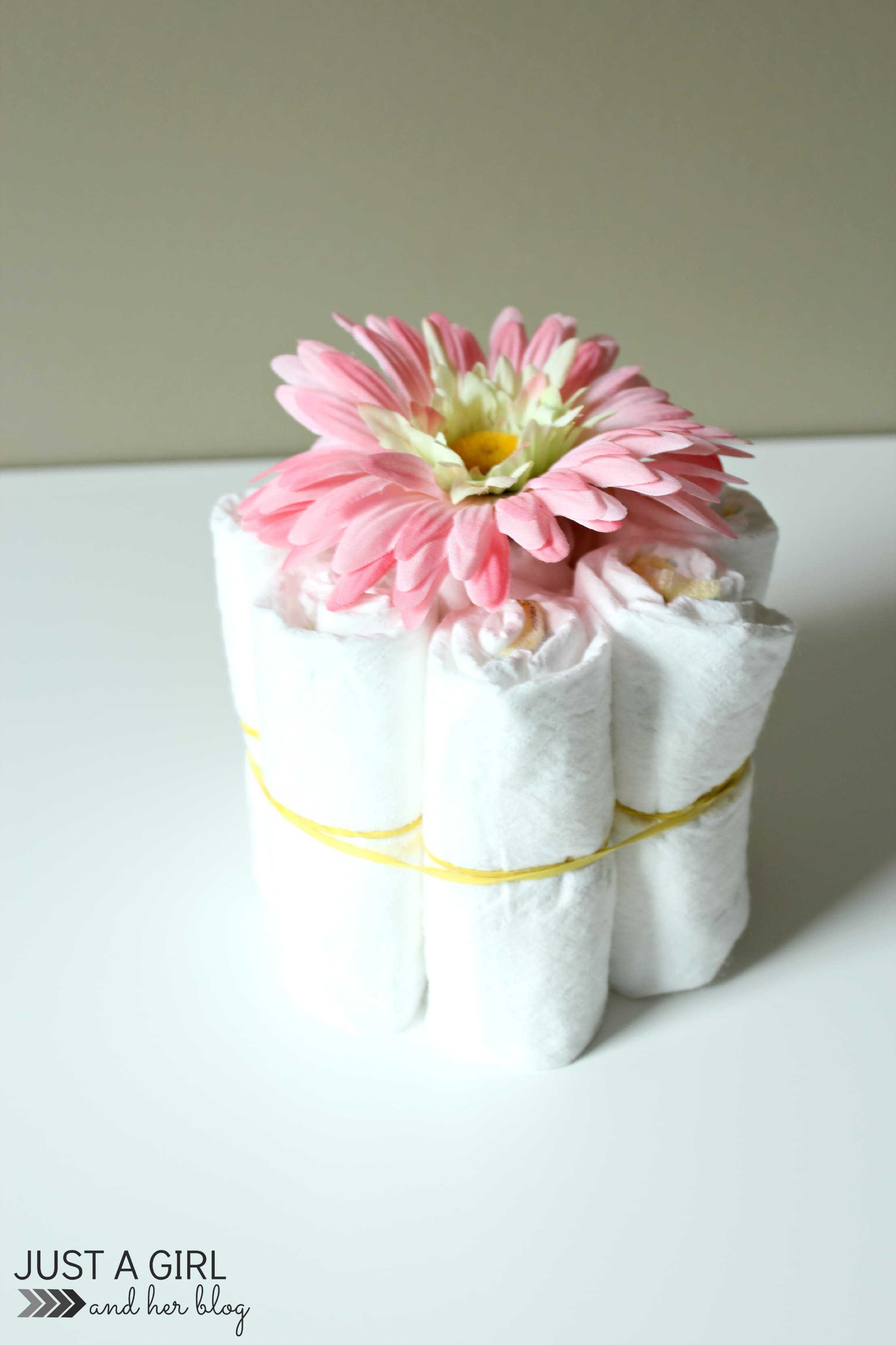 Sweet and simple baby shower centerpieces just a girl