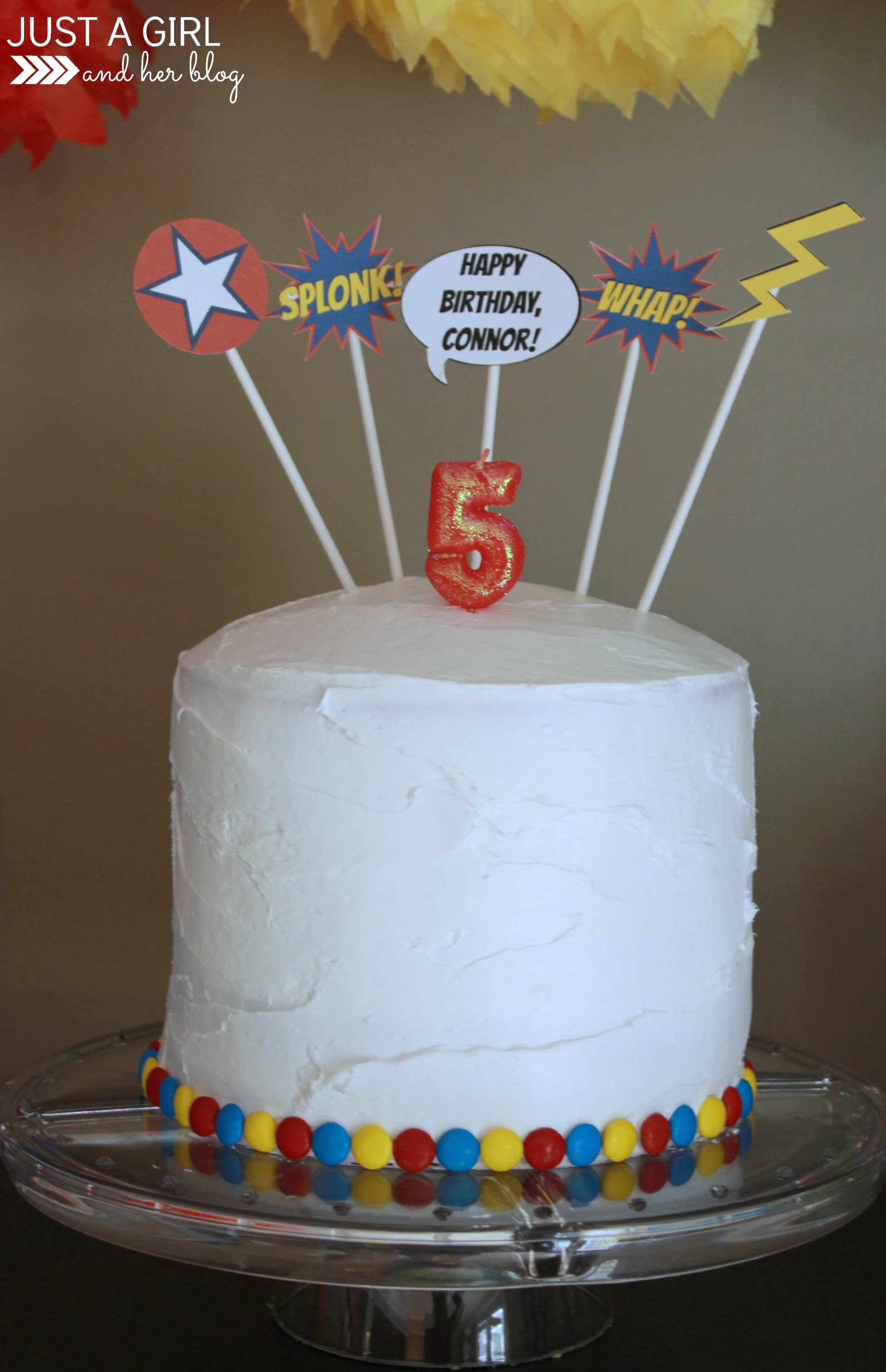 A Superhero 5th Birthday Party Just A Girl And Her Blog