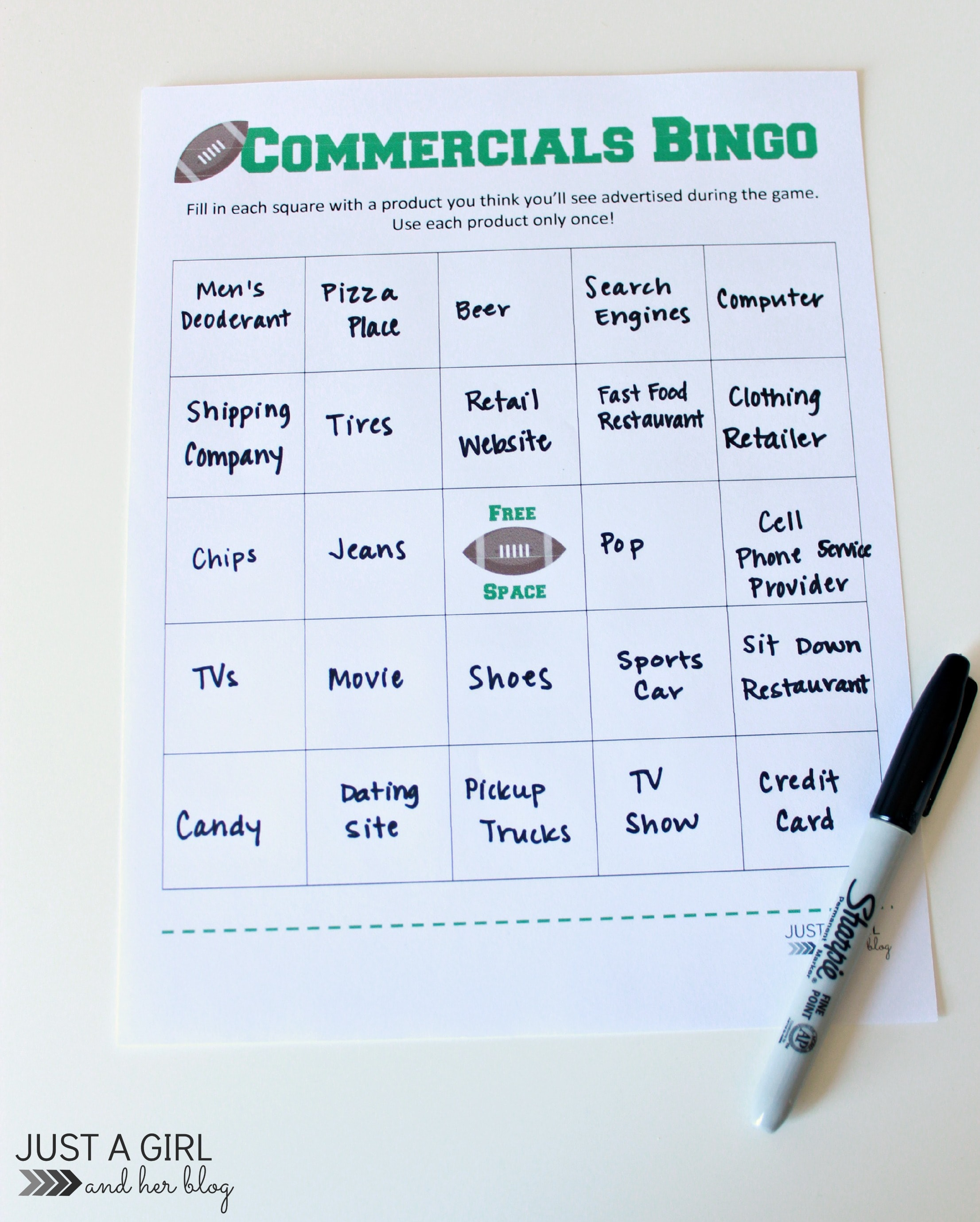 ... with a Bingo wins! Want to play? Download the free printable below