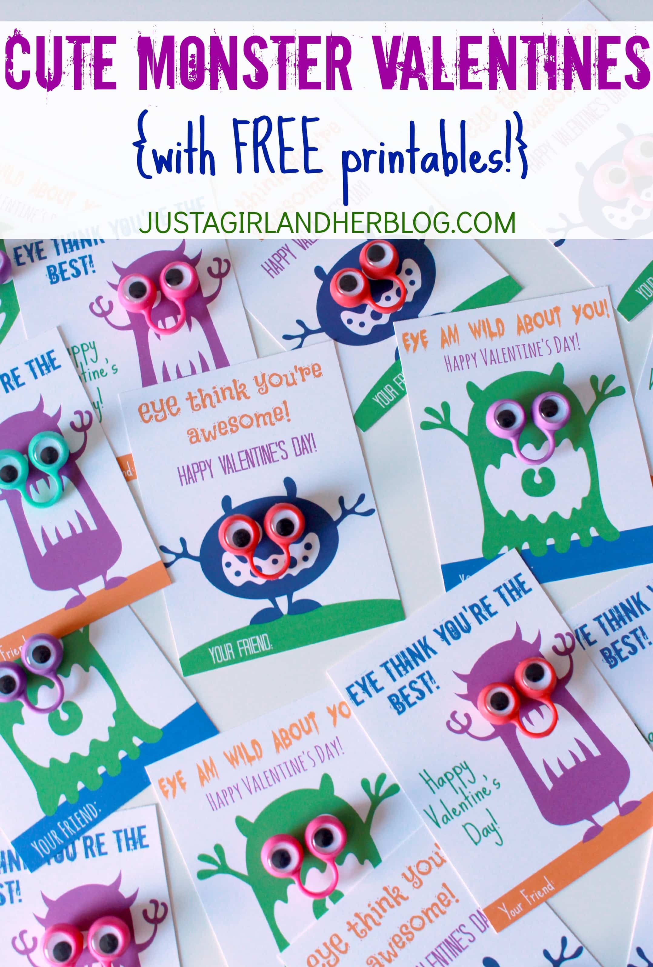 Furniture Puns Cute Monster Valentines With Free Printables Just A