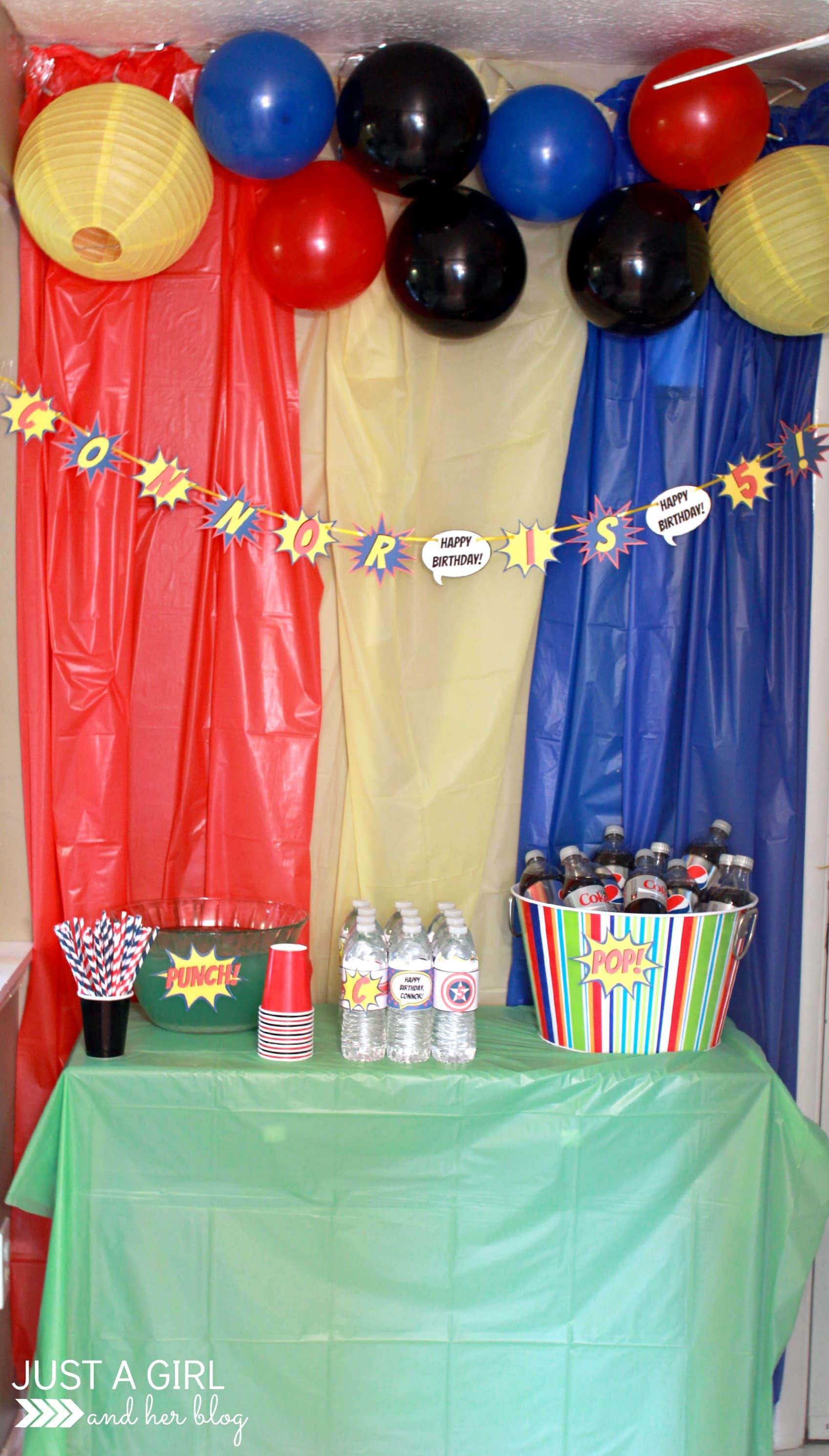 A Superhero 5th Birthday Party! - Just a Girl and Her Blog
