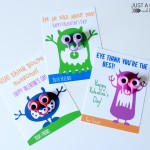Cute Monster Valentines {with FREE printables!}