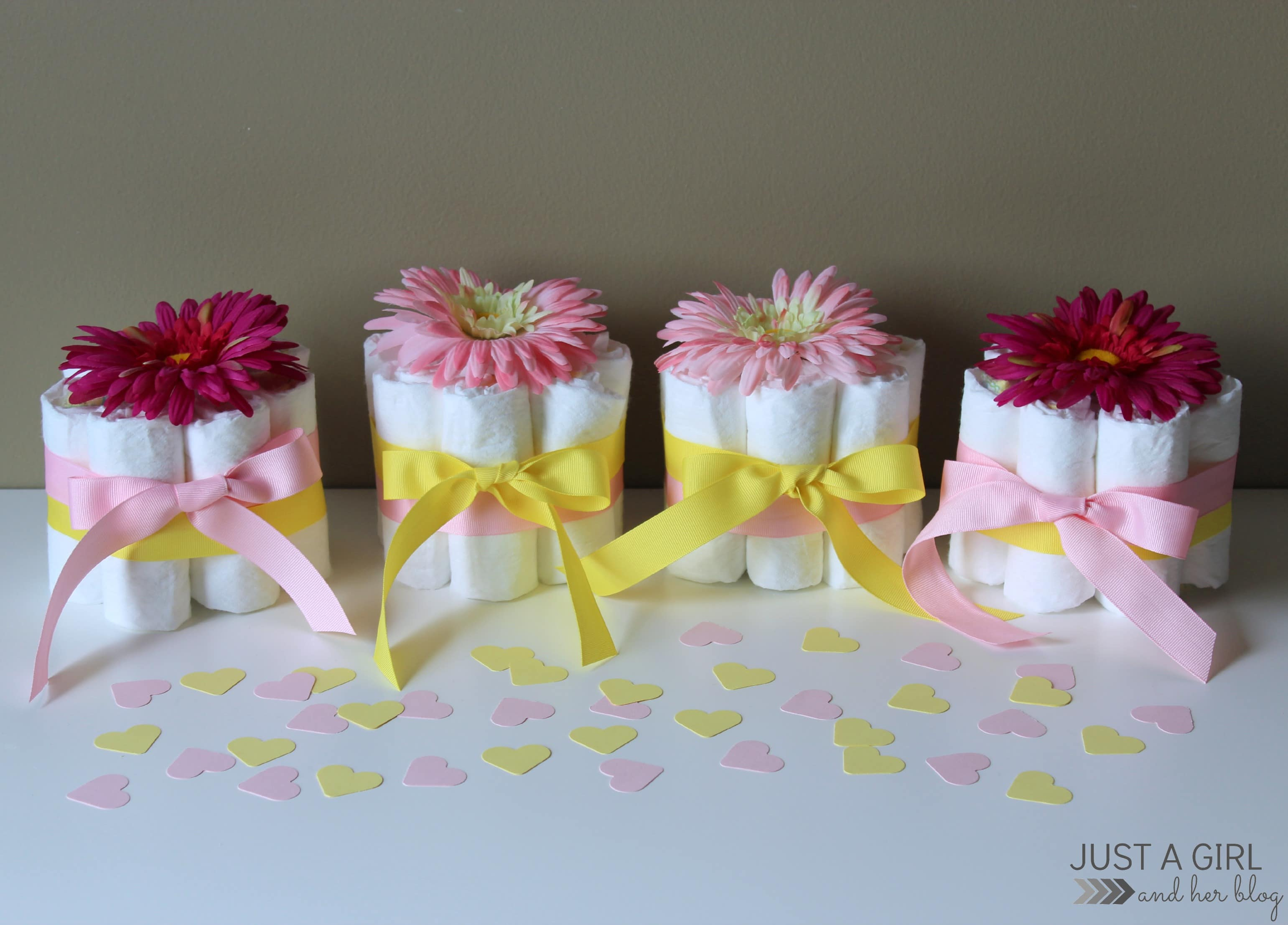 Easy Centerpiece For Baby Shower : Sweet and simple baby shower centerpieces just a girl