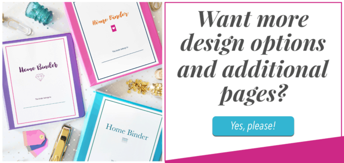 Home Binder Printables to Organize Your Life