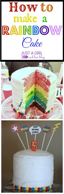 How to Make a Rainbow Cake by Just a Girl and Her Blog